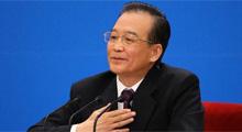 Premier Wen meets media