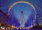 伦敦眼夜景