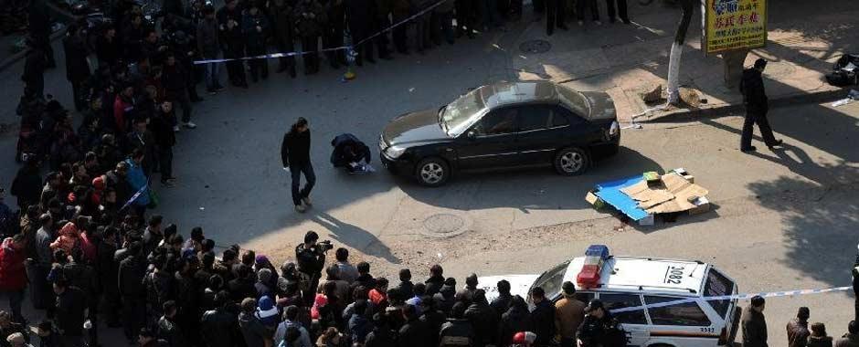 南京枪击抢劫案现场 疑凶曝光警方全城缉凶