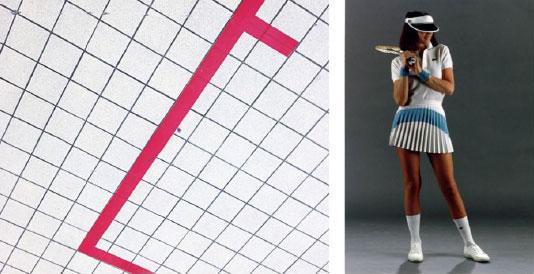 女士网球连衣裙搭配起了男士大衣及条纹制服外套