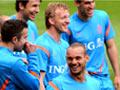 荷兰进行欧洲杯首训