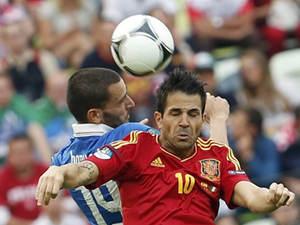 欧洲杯-小组赛-意大利1-1西班牙精华