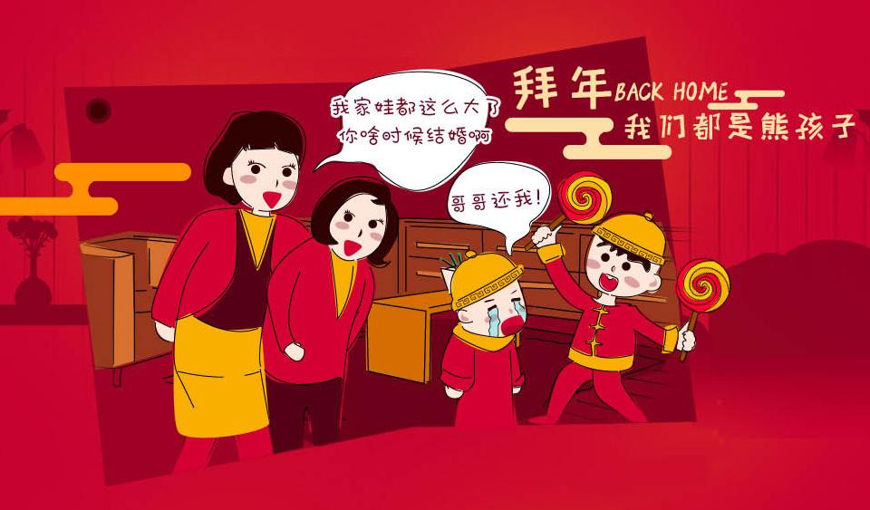 春节卡通拜年素材