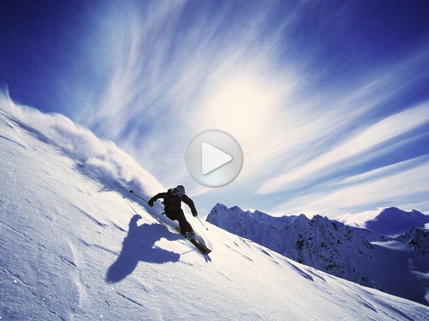 极速滑雪很刺激