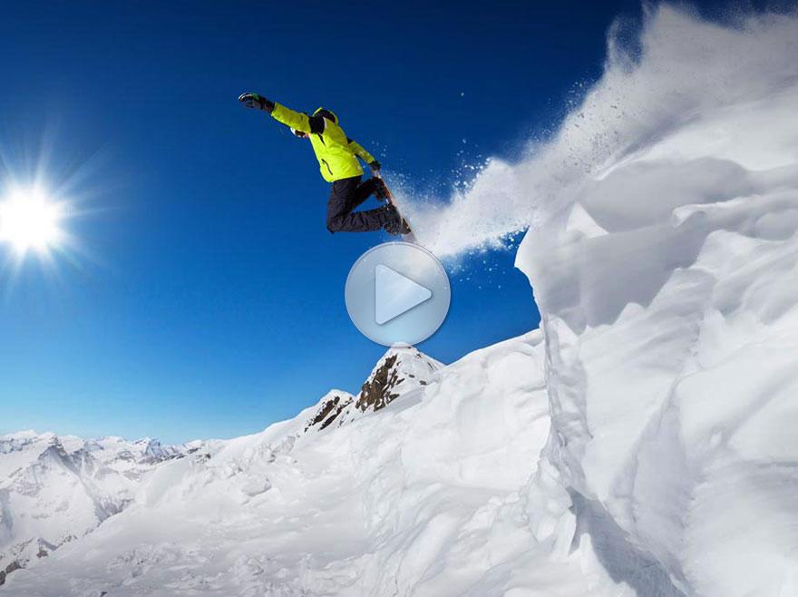 比基尼滑雪展