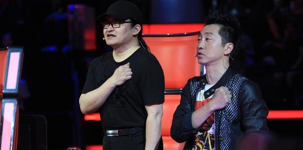 """哈林刘欢成中国好声音""""鬼马二人组"""""""